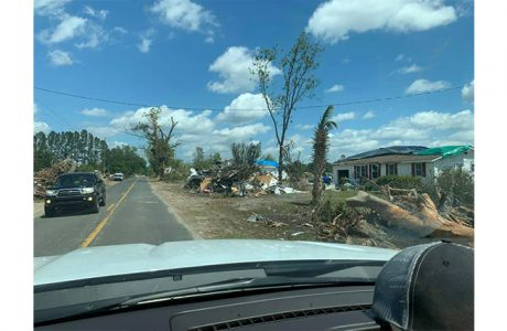View of tornado devastation in South Carolina
