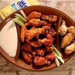 Wings on a plate