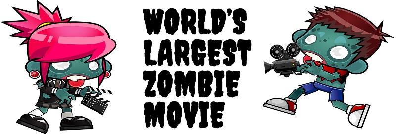 world's largest zombie movie