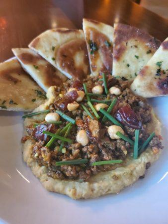 Blase Bistro Spiced Lamb Hummus_Laffa Bread
