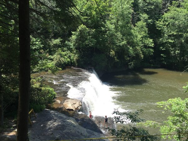 waterfall at DuPont State Recreational Forest