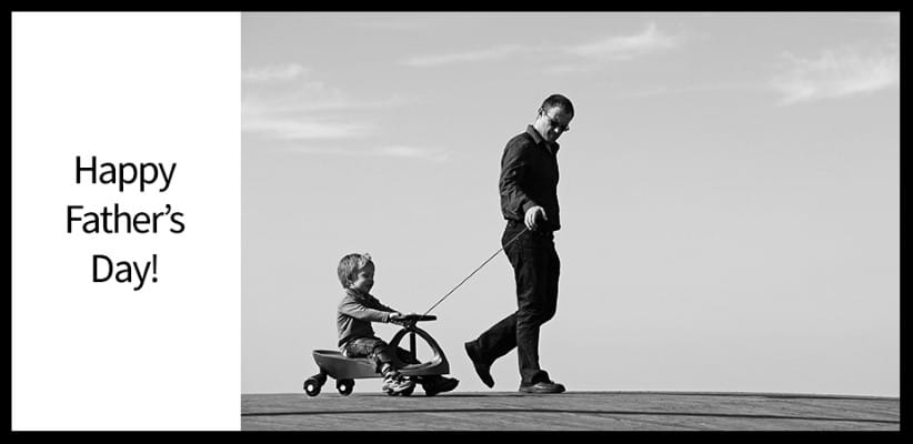fathers day, father with child in wagon