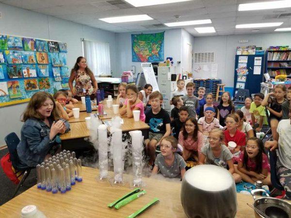 kids in science class october 2019