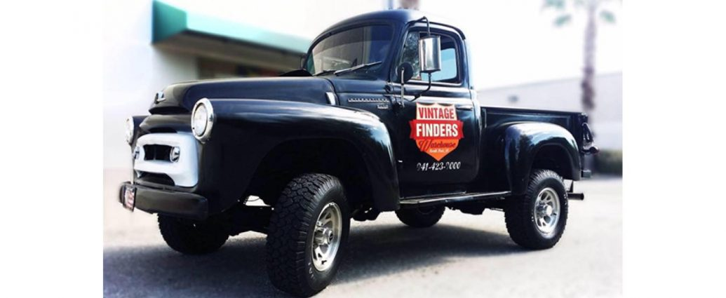 treasure hunting at Vintage Finders Warehouse truck