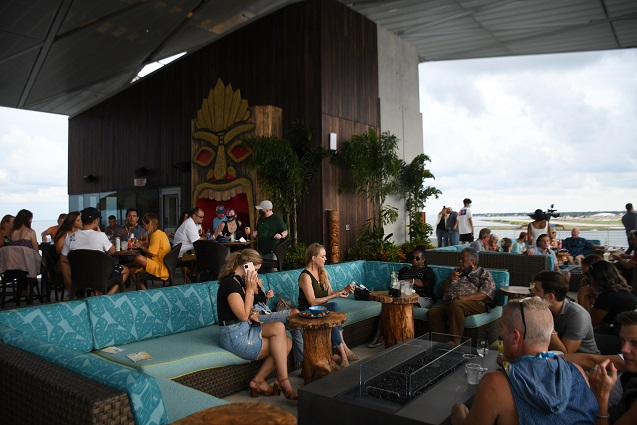 Restaurant view during Pier Grand Opening
