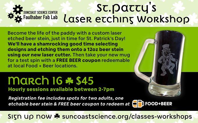 Laser Etch - St. Patrick's